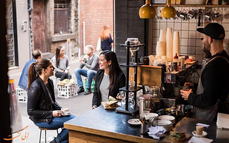 نوشیدن قهوه در ملبورن