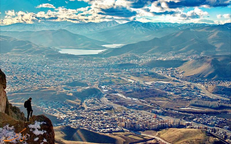 نمایی زیبا از شهر مهاباد