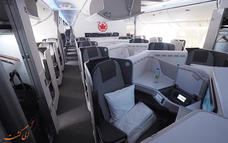 آشنایی با پروازهای بیزینس کلاس شرکت هواپیمایی ایرکانادا