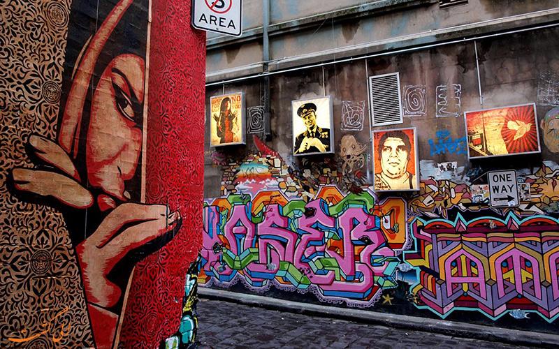 نقاشی های دیواری در ملبورن
