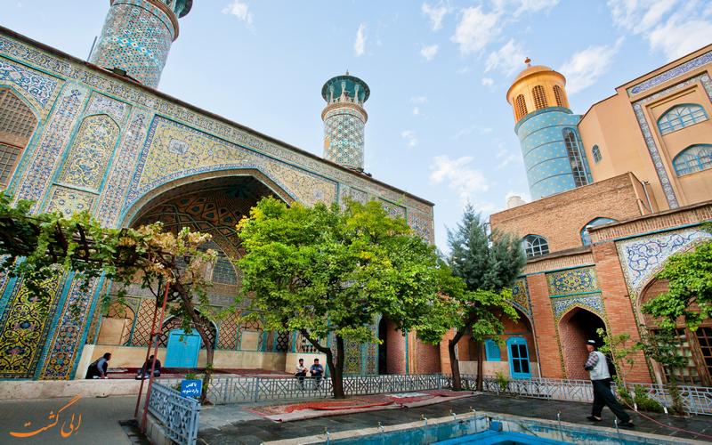 نمایی زیبا از مسجد