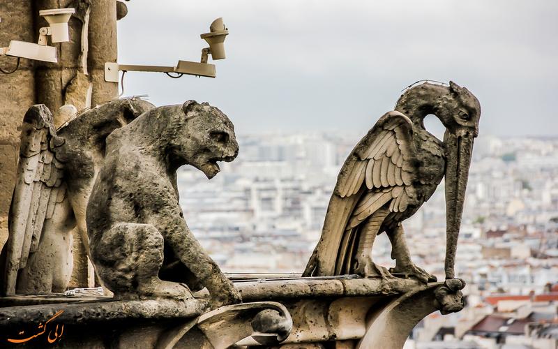 مجسمه های عجیب کلیسای نوتردام پاریس