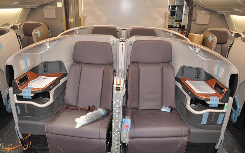 پرواز بیزینس کلاس شرکت هواپیمایی سنگاپور ایرلاینز