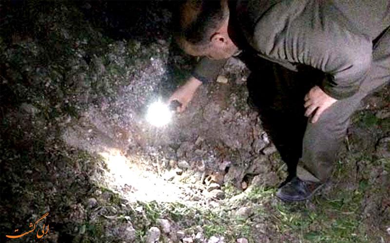 برخورد شهاب سنگ قائمشهر - حفره ایجاد شده