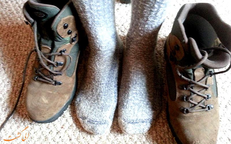 جوراب برای کفش کوهپیمایی