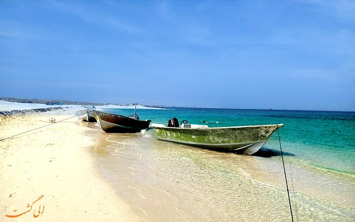 نمایی از قایق در جزیره ی لاوان