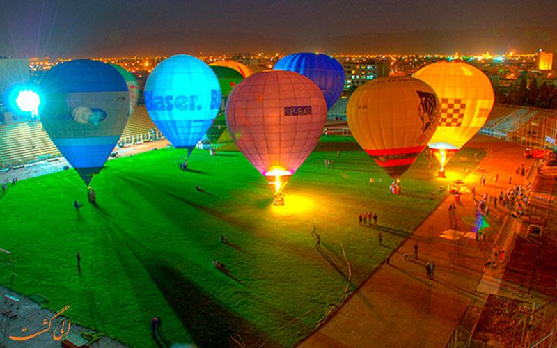 به پرواز در آوردن بالون ها در شیراز