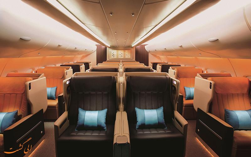 بیزینس کلاس شرکت هواپیمایی سنگاپور ایرلاینز