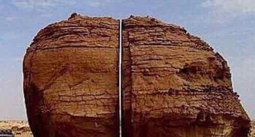 صخره باستانی النسلای عربستان