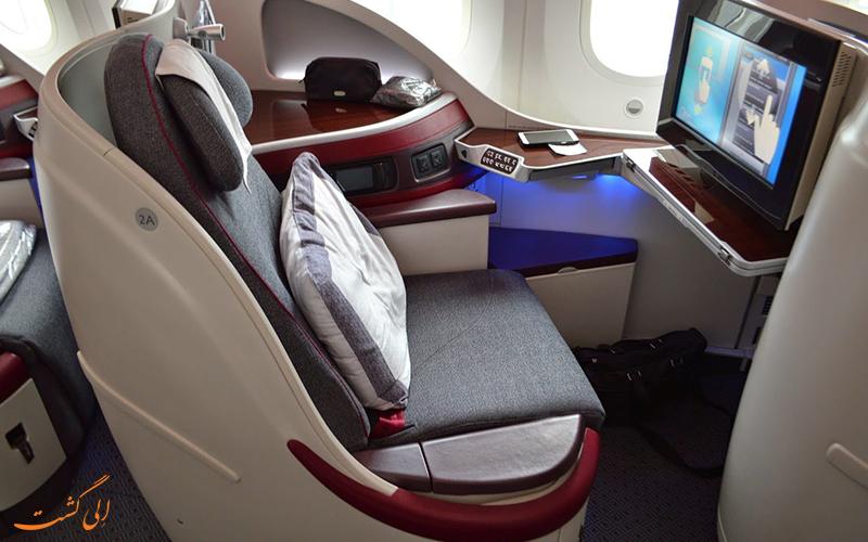 آشنایی با پروازهای بیزینس کلاس شرکت هواپیمایی قطر ایر ویز
