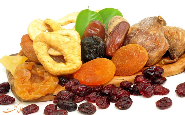 میوه های خشک شده