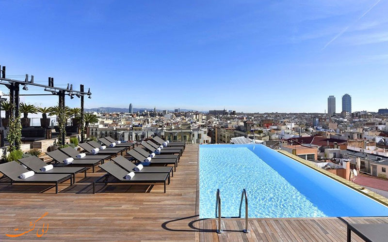 امکانات تفریحی هتل گرند سنترال بارسلونا- استخر