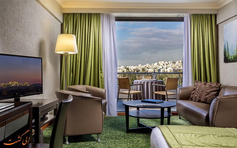 انواع اتاق های هتل رادیسون بلو پارک آتن