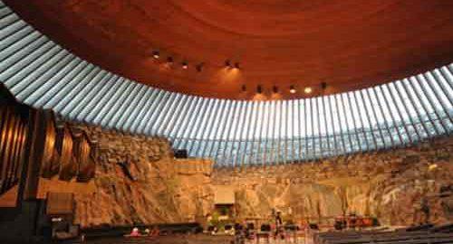 نمای کلیسای تمپلیاکیو فنلاند
