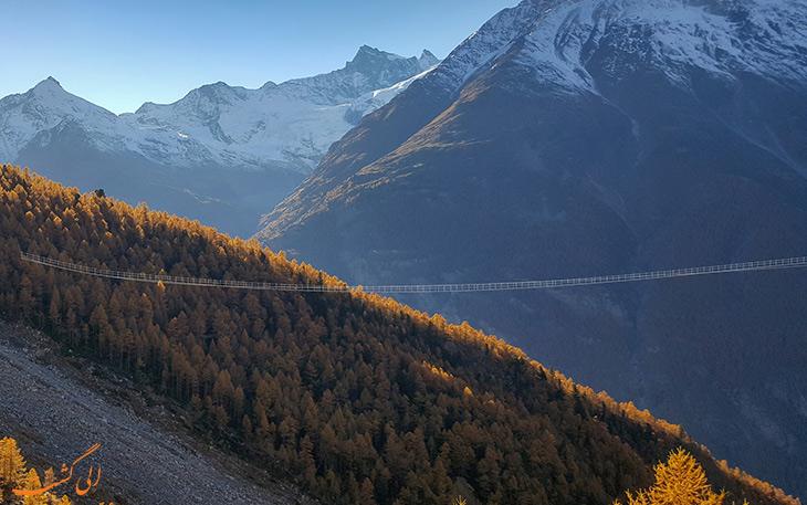طولانی ترین پل معلق در سوئیس