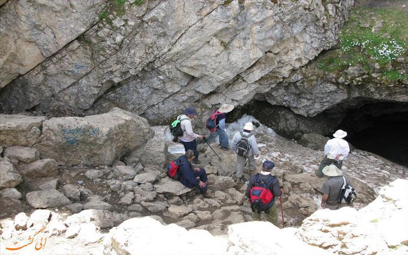 دهانه غار درفک