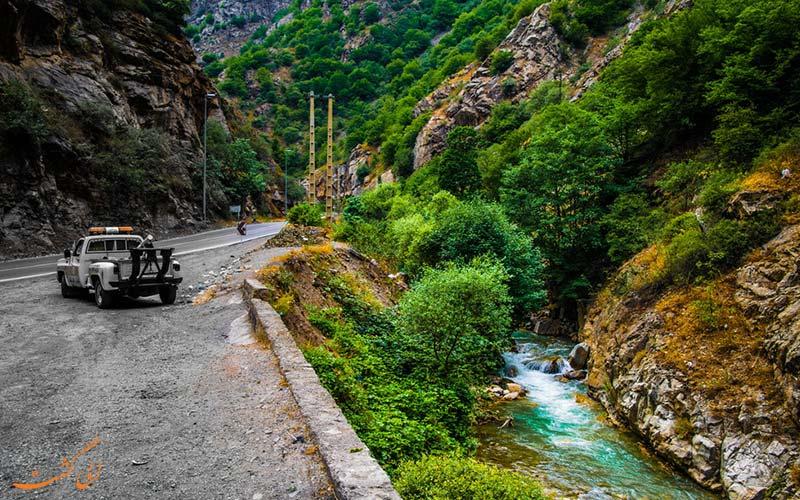 تاریخ ساخت جاده چالوس