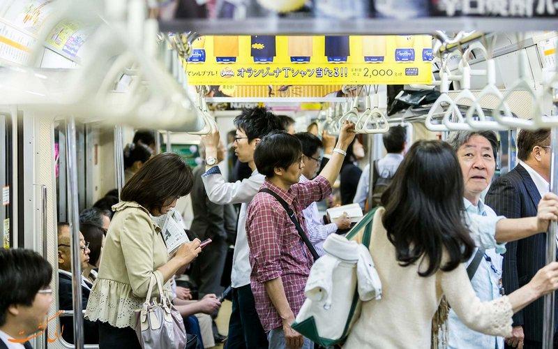 شلوغ ترین مترو دنیا