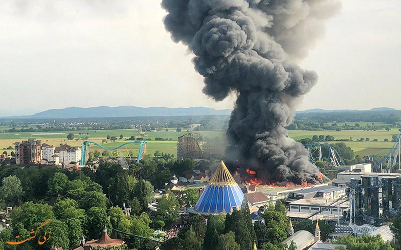 آتش سوزی در پارک اروپا