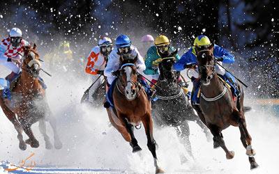 مسابقه اسب سواری روی یخ