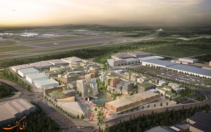 ساخت شهر جدید در کنار فرودگاه اسلو