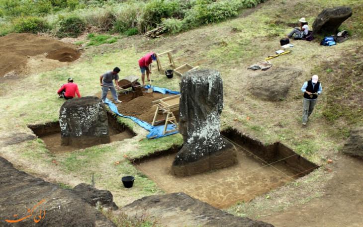 کاوش های باستان شناسی ایستر