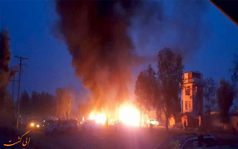 انفجار شی نامشخص در شهر قائمشهر