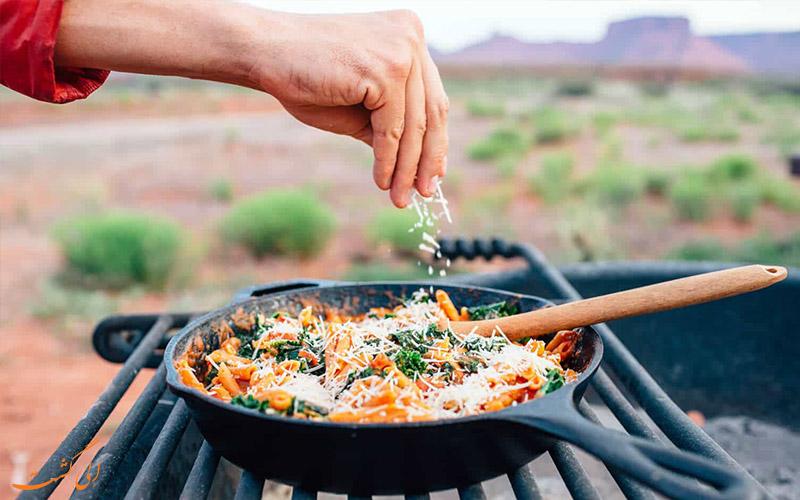 آشپزی در سفر- آشپزی آسان