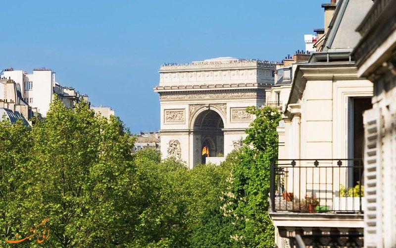 هتل شانزه لیزه فرایدلند پاریس- نمای تراس اتاق ها