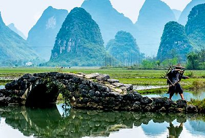 جاذبه های شهر گویلین در چین
