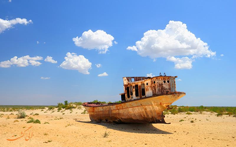 کشتی های میناق ازبکستان