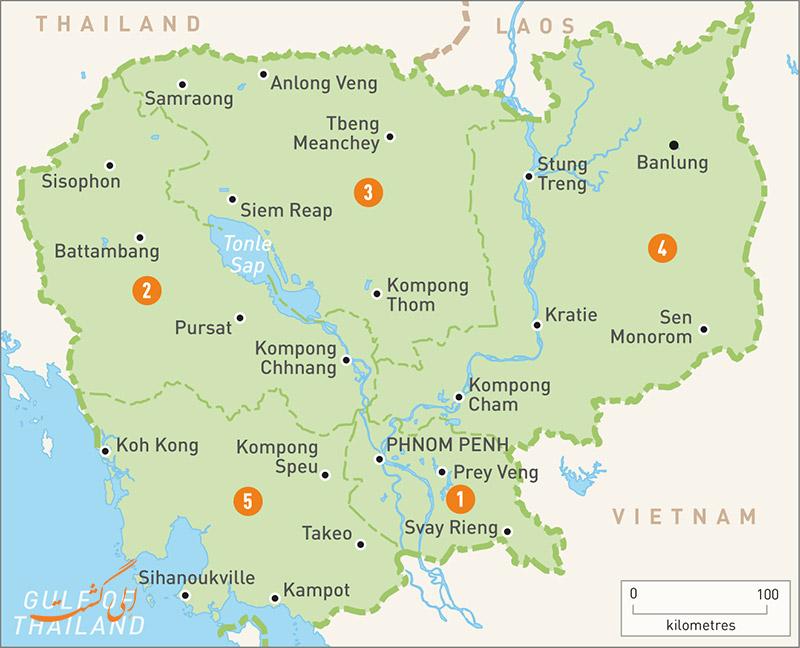 نقشه کشور کامبوج