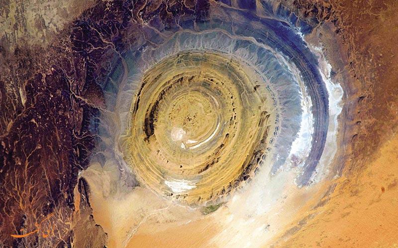 چشم آفریقا در صحرای ساهارا