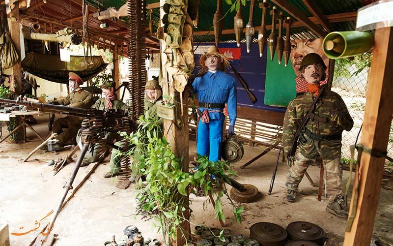 بخشی در موزه لندماین کامبوج