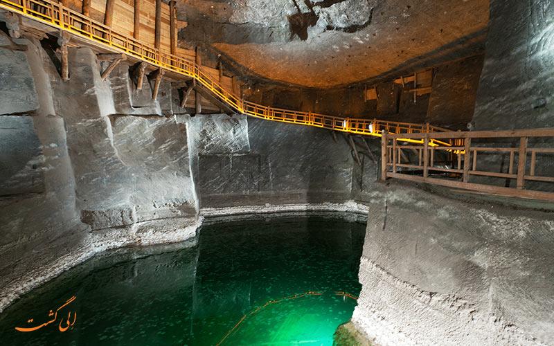 دریاچه ای در معدن نمک