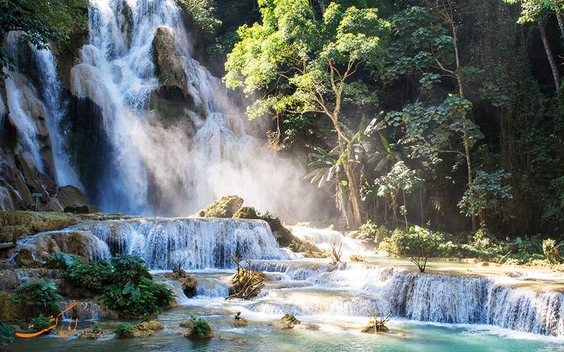 آبشار کوانگ سی در کشور لائوس