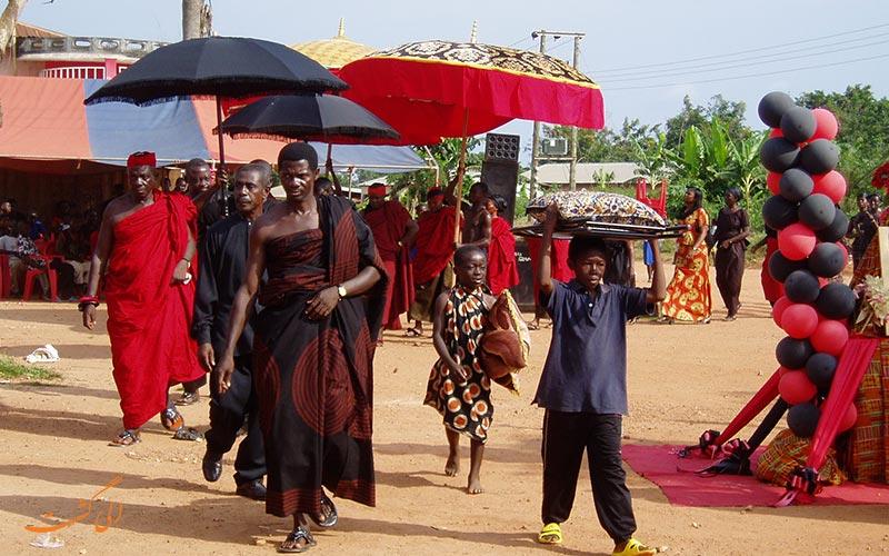 تدفین در غنا