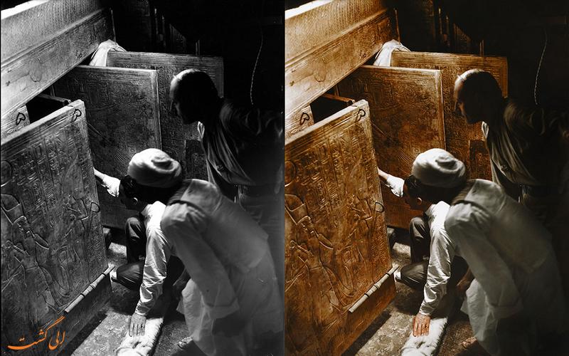 لحظه باز شدن درهای مقبره فرعون برای اولین بار
