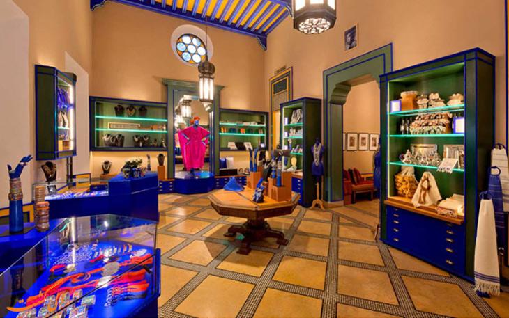 نمای داخلی موزه باغ ماژورل مراکش