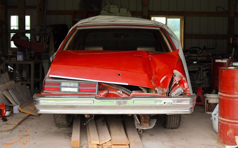 شهاب سنگ وحشتناکی که یک ماشین را نابود کرد!