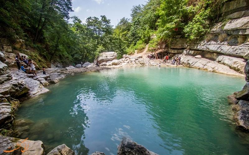 حوضچه های آبشار شیرآباد