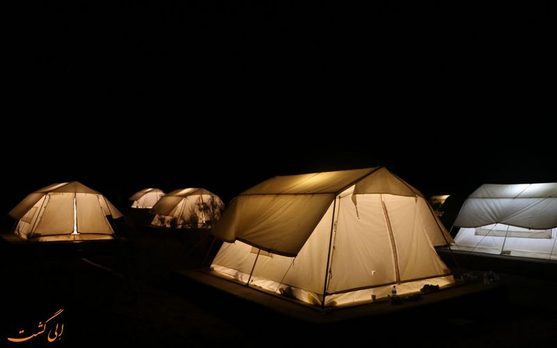 شب مانی در چادرهای متین آباد