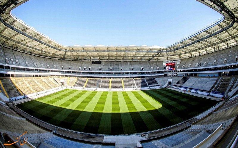 نمای داخلی استادیوم روستوف روسیه