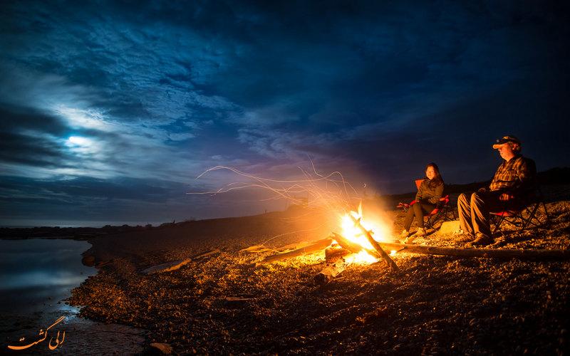 آرامش در کنار آتش