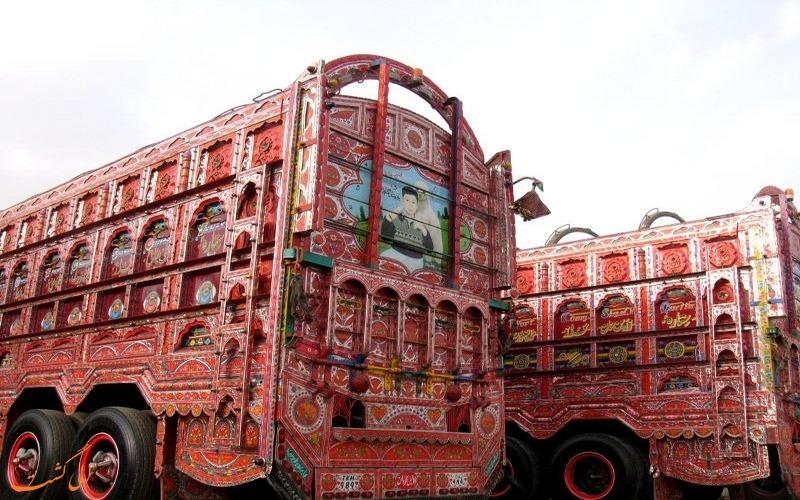 تزئینات کامیون های پاکستانی