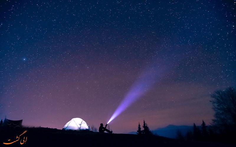 شب مانی در طبیعت