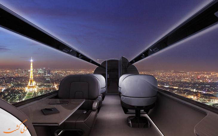 پنجره مجازی هواپیما
