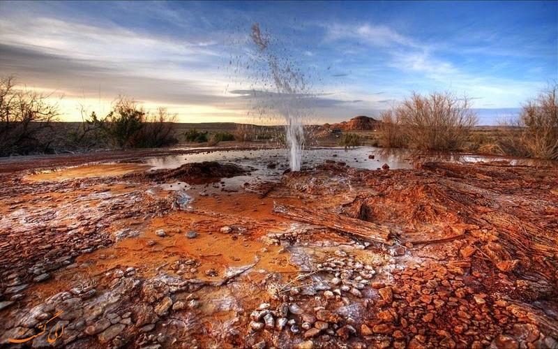 چشمه آب گرم چافین رانچ