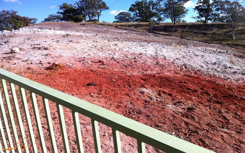 خاک های قرمز رنگ این منطقه