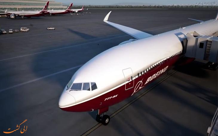 بال های تاشو هواپیمای جدید بوئینگ